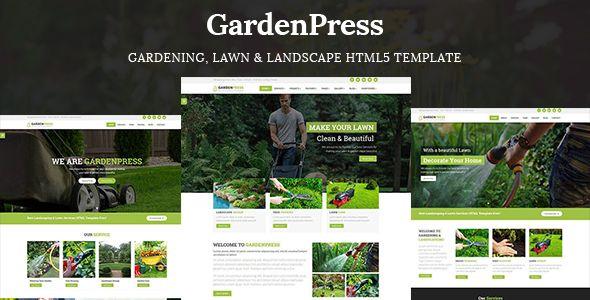 Gardening, Lawn & Landscape HTML5 Template - Garden Press | Website ...