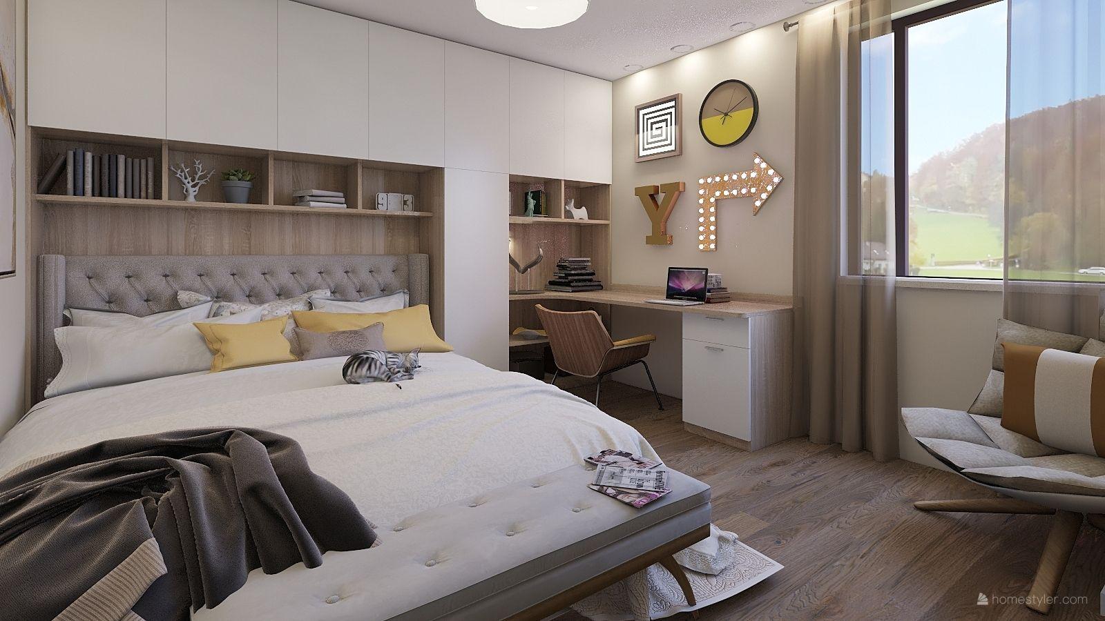 Fresh bedroom design by Geovana Alochio | 3d home design ...