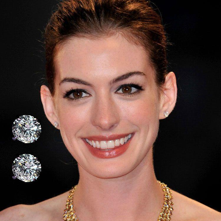celebrities diamond stud earrings