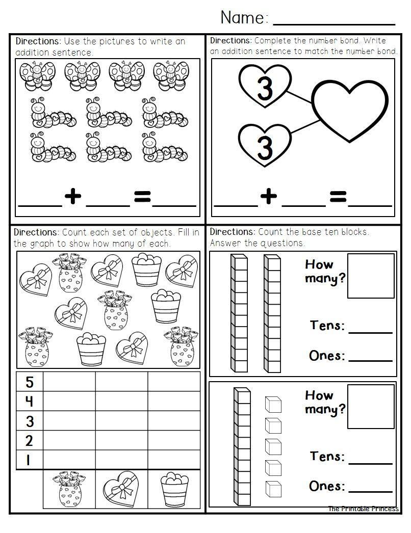 February Morning Work for Kindergarten | Morning work, Literacy ...