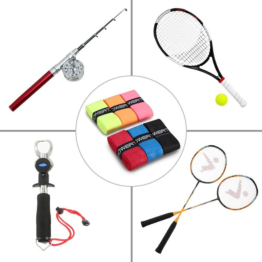 6pcs Tennis Racket Grips Anti Skid Badminton Racquet Grips Vibration Overgrip Sweatband Tennis Racket 6pcs Tennis Racket Grip Rackets Tennis Racket Tennis