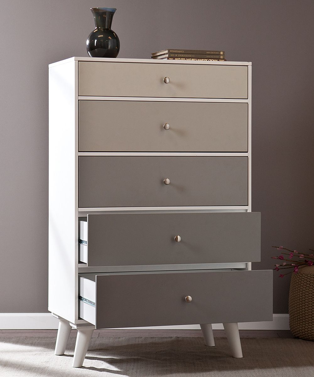 Best Gray Scale Color Block Five Drawer Dresser Southern 400 x 300