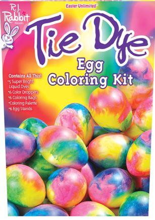 "RJ Rabbit ""Tye Dye"" Egg Coloring Kit Egg dye, Dye"