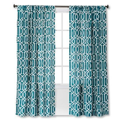 Curtain Panel Threshold Trade Aqua Panel Curtains Curtains Elegant Curtains