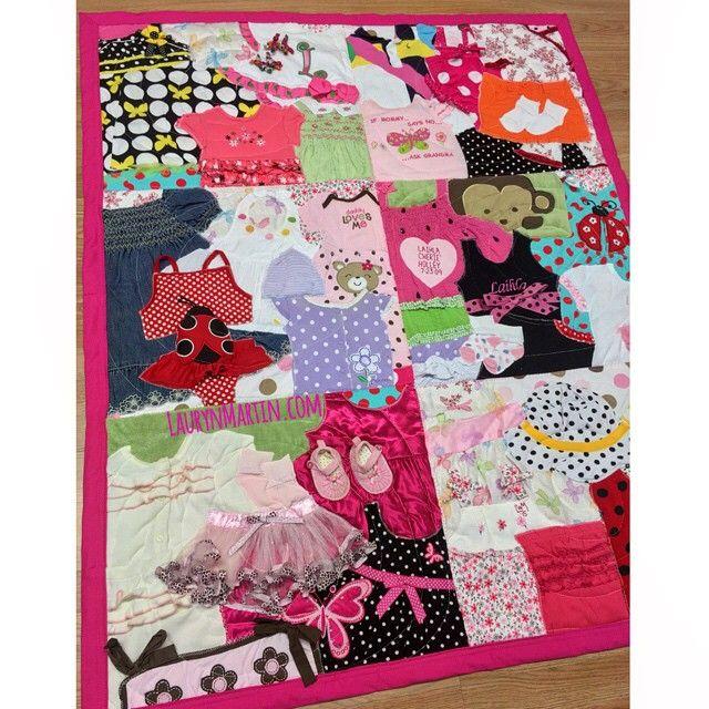 Pretty in pink  #heartandsew #memoryquilt #babyclothesquilt
