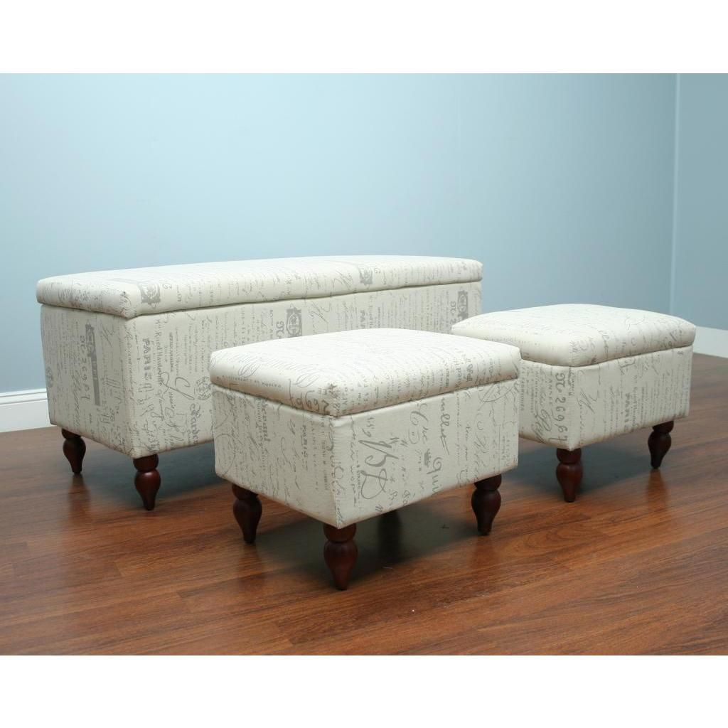 Add elegant and functional accent pieces to your home decor with this beautiful bench and ottoman set.