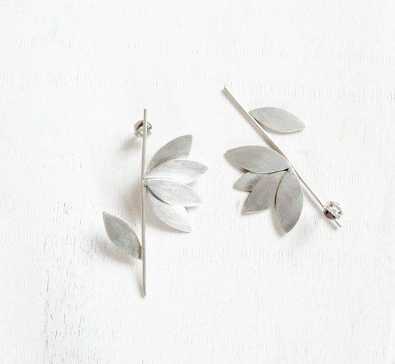 Origami Earrings Contemporary Design Jewelry Authentic