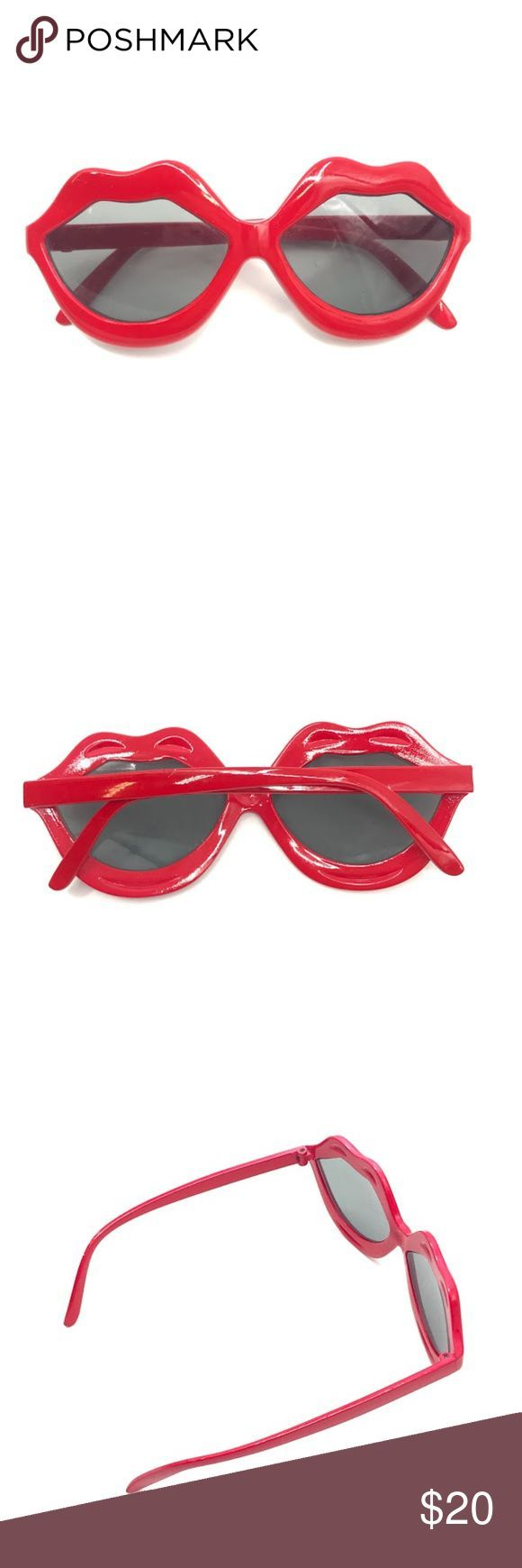 Rote Lippen geformte Sonnenbrille rote Lippen geformte Sonnenbrille funky einzigartige Sommer... #lipsshape