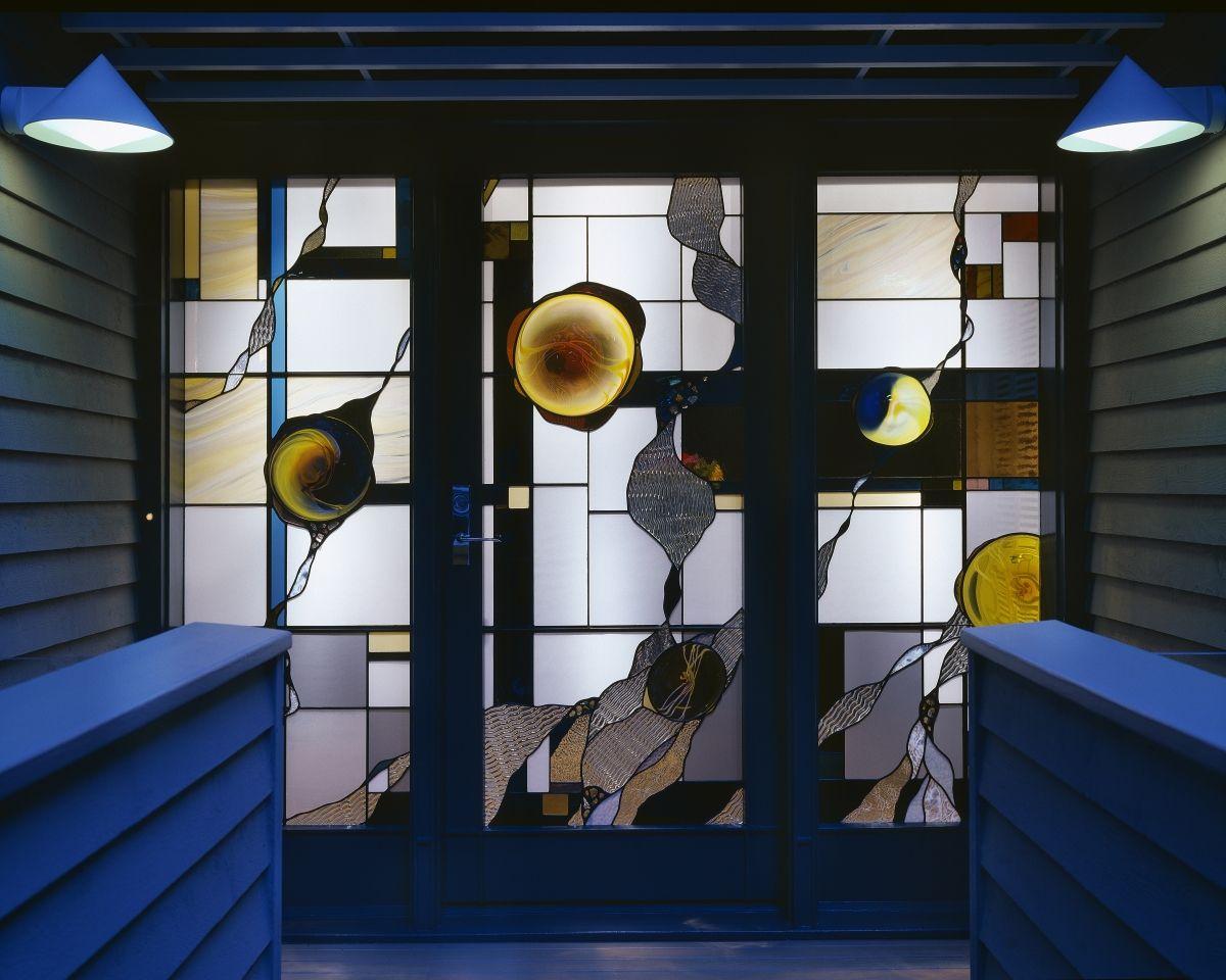 Residential Entrance Private Residence 2006 Atlanta Ga By Seranda Vespermann Stained Glass Door Stained Glass Glass Door