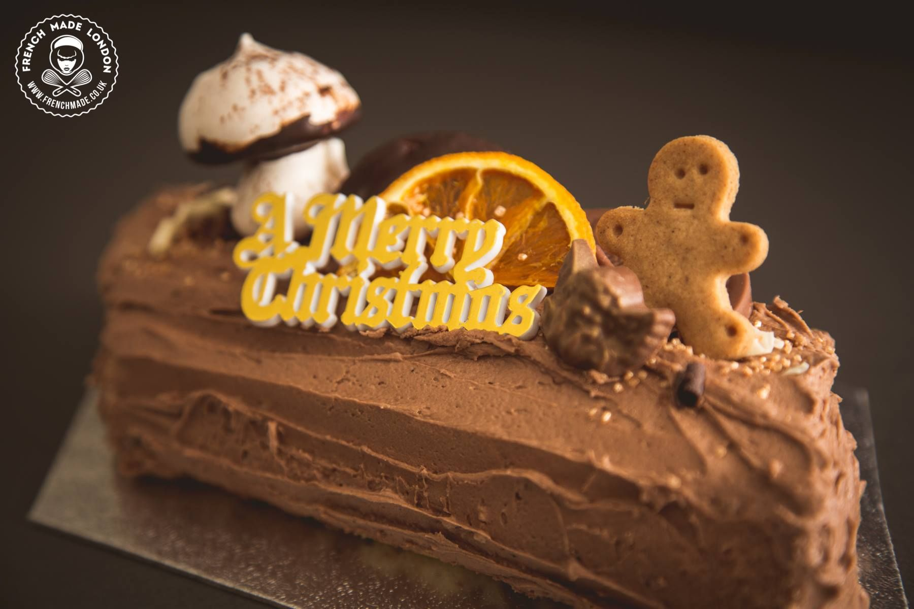 Yule log/ Bûche by http//www.frenchmade.co.uk Christmas