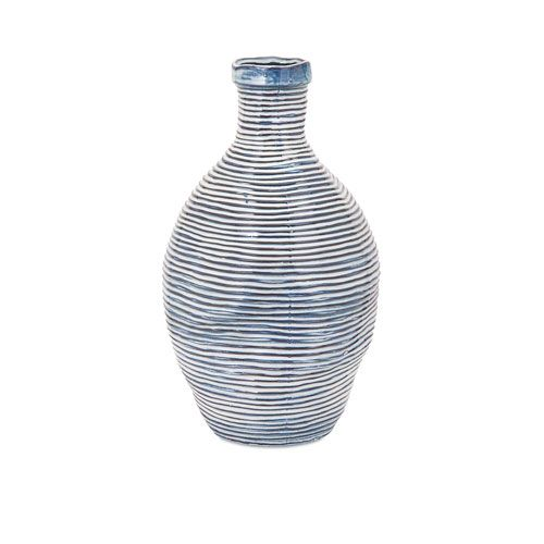 Imax Libby Blue And White Small Vase