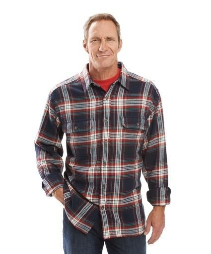 Men's Oxbow Bend Plaid Flannel Shirt by WOOLRICH® The ...