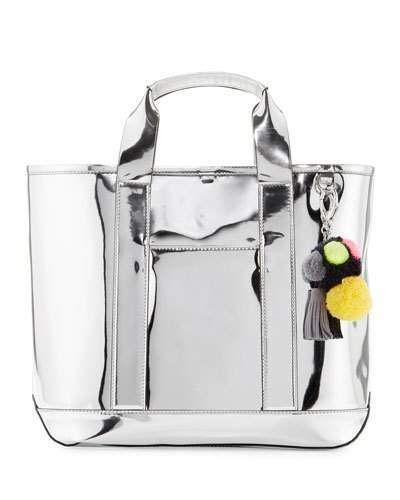 45e7c65d34 Rebecca Minkoff Sofia Mirrored Pompom Tote Bag