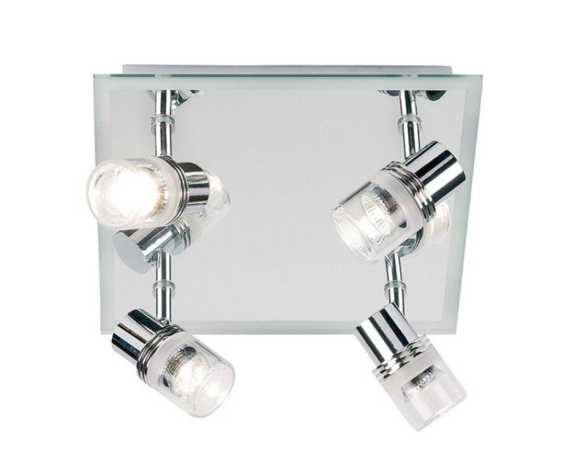 El Nordic Ip44 Mirror With Pull Switch: Endon EL-174 Delta Quad IP44 20W Bathroom Spotlight