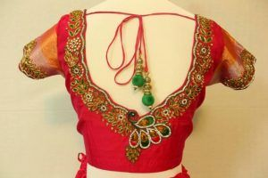 stylish blouse design http://punjabisuits.net/blouse-neck-designs/