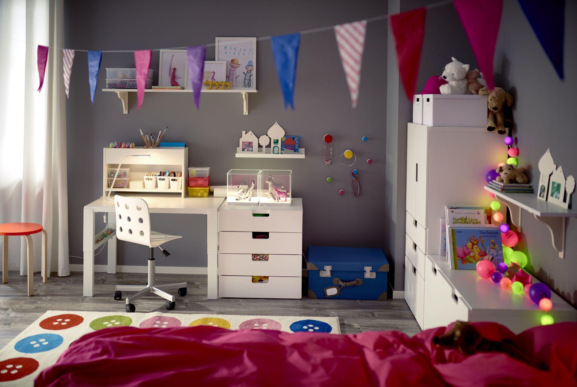 PÅhl bureau met opbouwdeel wit kids rooms bureaus