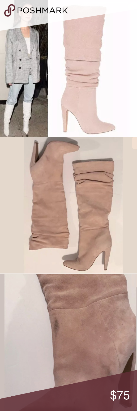 82a8ecdb8ed STEVE MADDEN CARRIE SLOUCH BOOTS Pull on, pointed toe, knee high ...