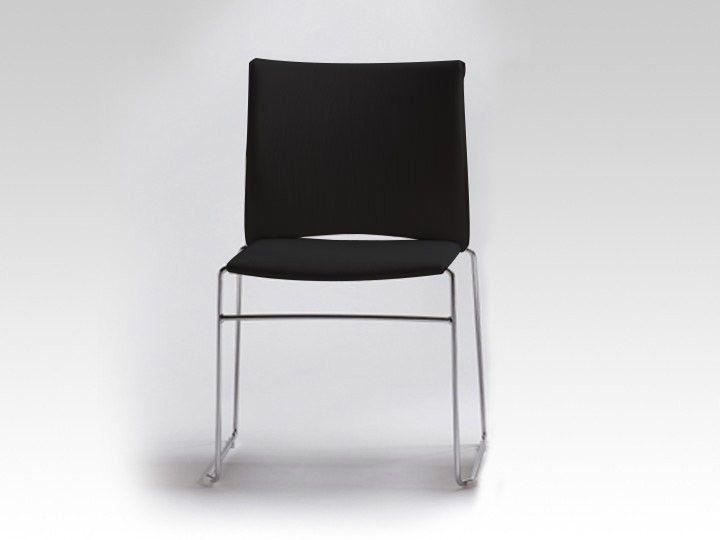 Infiniti Web Stuhl Stapelstuhl Melange Stoff Schwarz - Ausstellungsstück