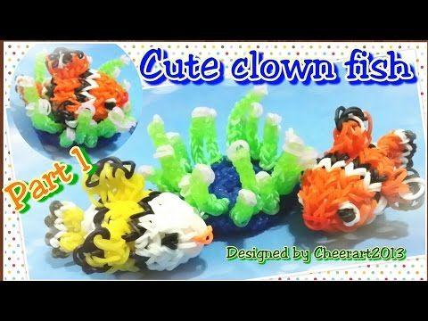Diy Loom Bands Clownfish Charm Part 1 Rainbow Loom Tutorial
