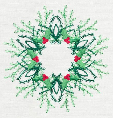 Vintage Christmas Wreath | Urban Threads: Unique and Awesome Embroidery Designs