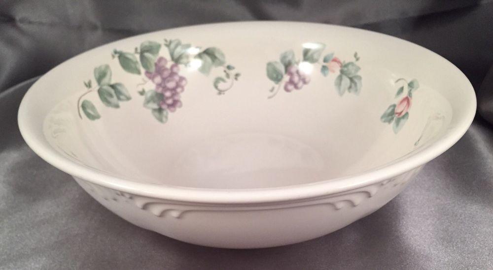 Pfaltzgraff Grapevine Serving Bowl Pattern Stoneware 8 3/4 Inch ...