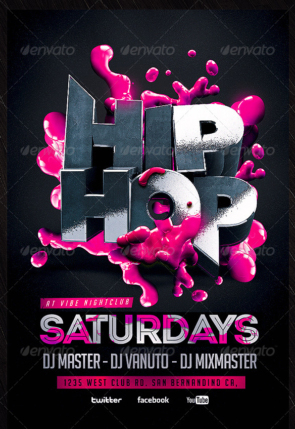 Top 25 ideas about Hip Hop Flyer Template on Pinterest | Flyer ...