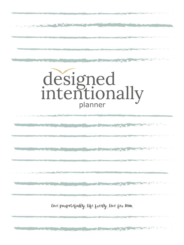 Designed Intentionally Planner Instant Digital