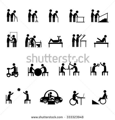 medical rehabilitation activity in elderly and person with