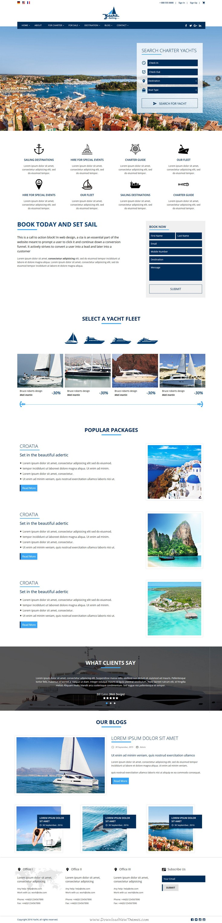 Yacht Sailing - Marine Charter Booking - Selling template | Business ...