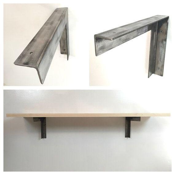 Steel Angle Shelf Brackets Pair Shelves Shelf Brackets Wood