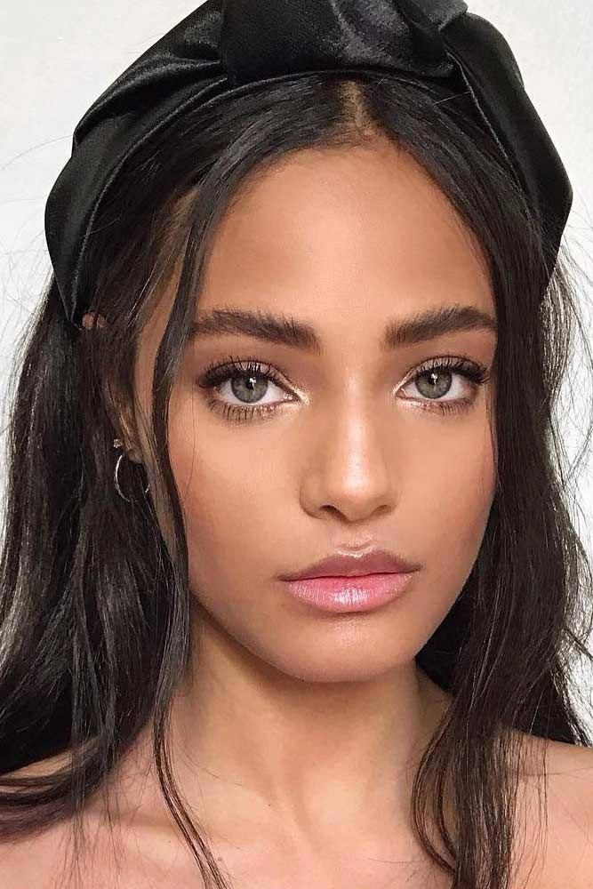 Natural Simple Makeup Idea #thickbrow #lipgloss ★ Time to learn how to do natu…