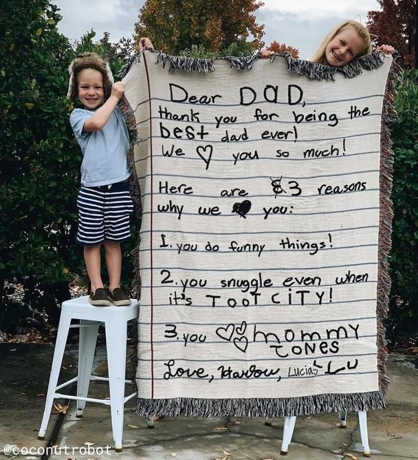 Love Letter Blanket: Handwriting