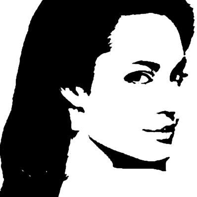 Angelina Jolie By Giney Kill Silhouette Art Portraiture Art Pop Art Face