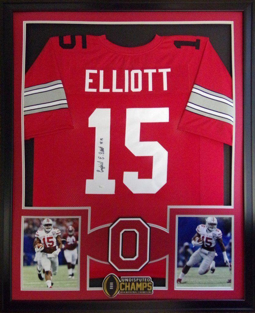 Ezekiel Elliott Framed Jersey Signed JSA COA Autographed