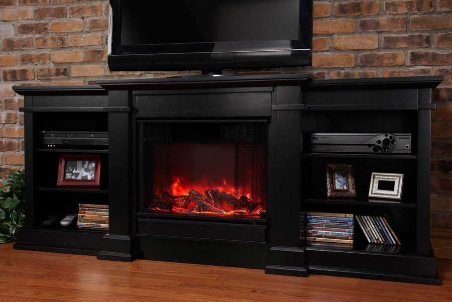 Fresno Electric Fireplace In Black · Tv StandsFireplace ...