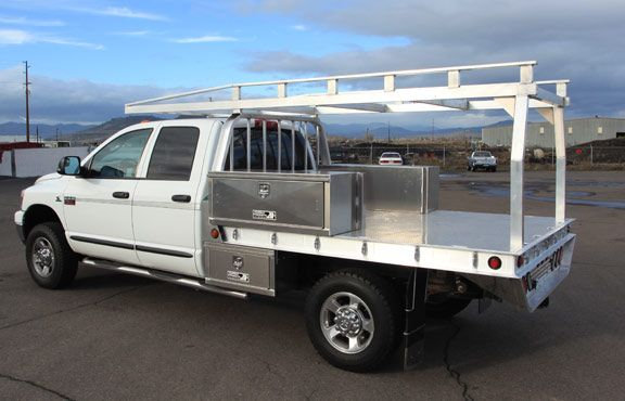 Lumber Rack Built By Highway Products For An Aluminum Truck