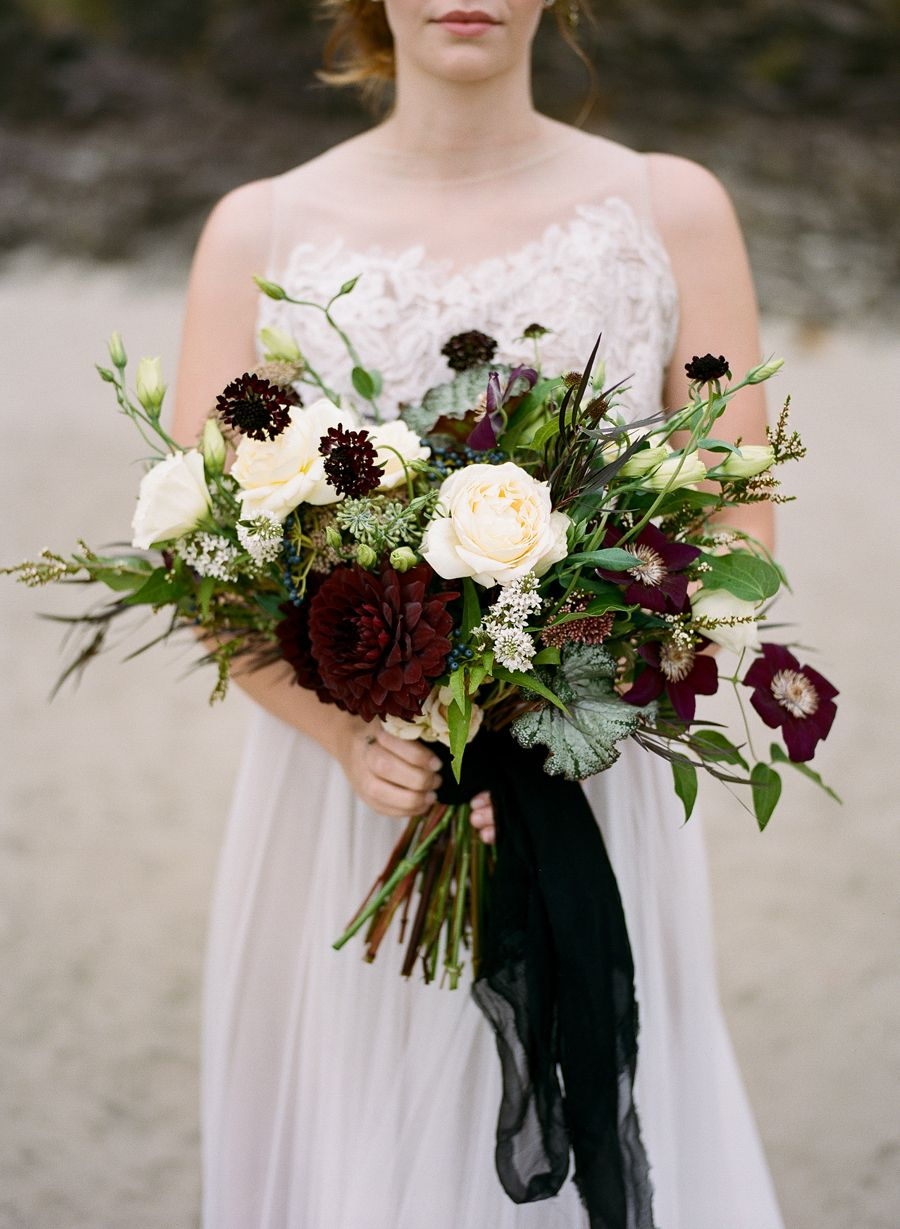 Celestial seaside wedding inspiration in oregon katy flowers