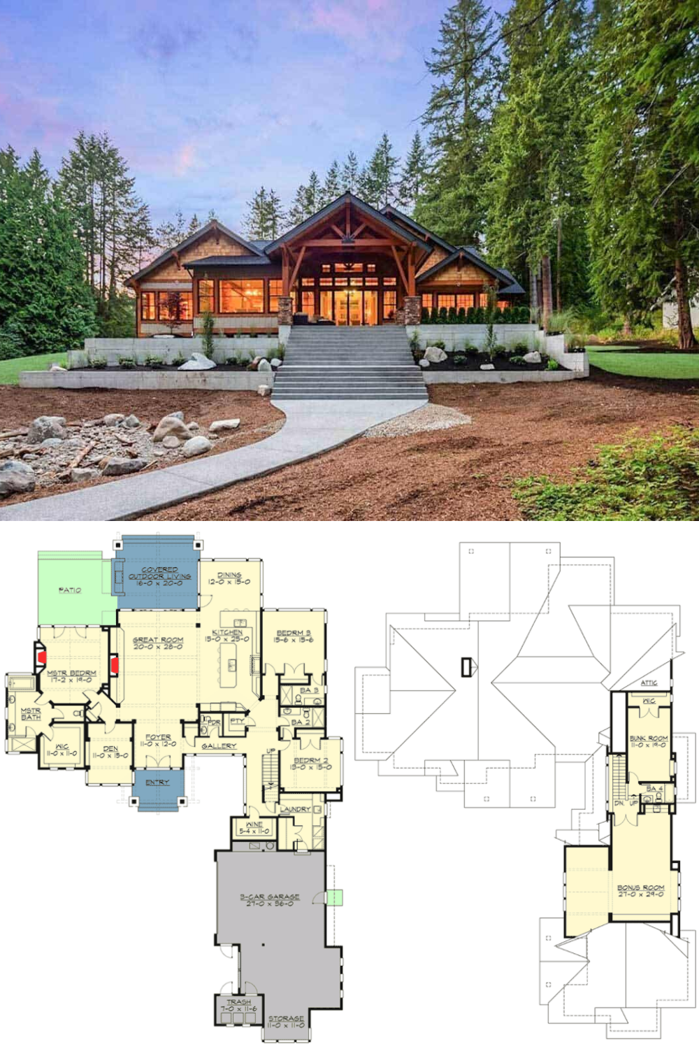 4 Bdrm Open Concept Mountain Style Home A Real Beauty In 2020 Home Exterior Makeover Mountain House Plans Exterior Makeover
