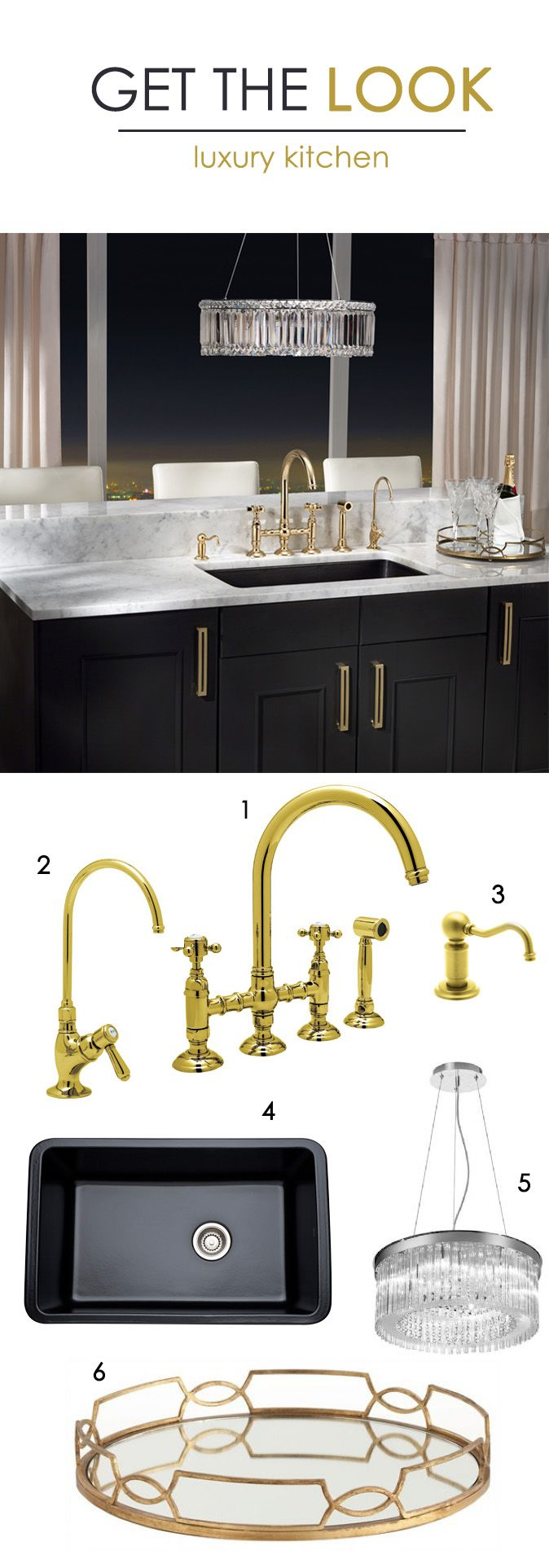 Luxury Kitchen: 1. Rohl Country Kitchen Faucet 2. Rohl C-Spout ...