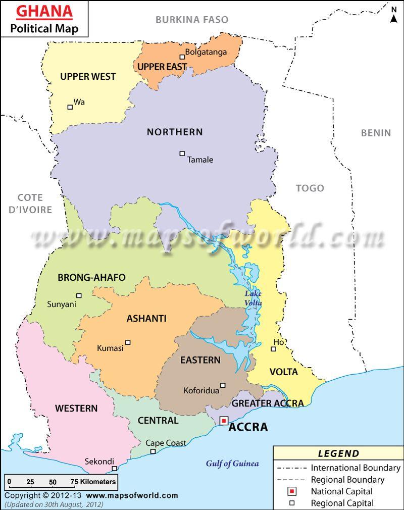 Ghana Map Quotes Pinterest Ghana - Map of ghana