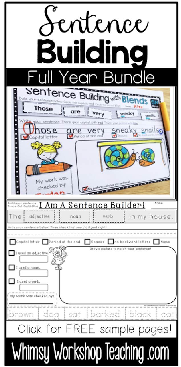 Worksheet Compound Words With Self sentences building and self editing colors words parts of includes sets for sight color speech blends digraphs compound quotations marks contractions m