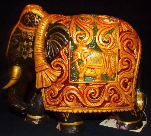 Wooden Handicrafts Wooden Elephant Desing Manufacturer From Jaipur