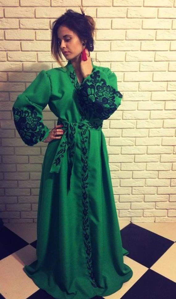 e6d58e3150d Вишите плаття зелене green embroidered dress