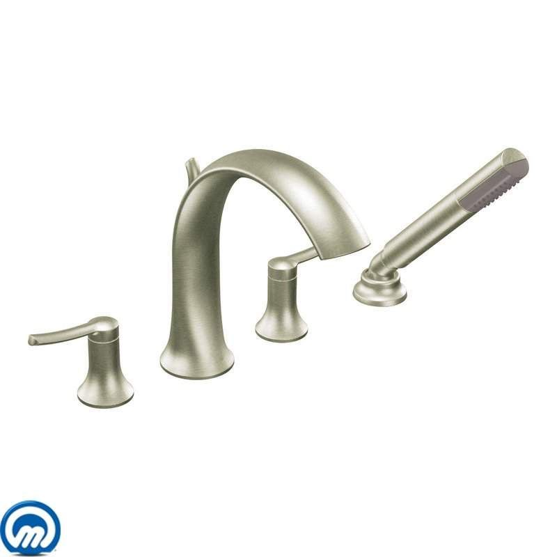 Moen TS21704 Deck Mounted Roman Tub Faucet Trim with Personal Hand ...