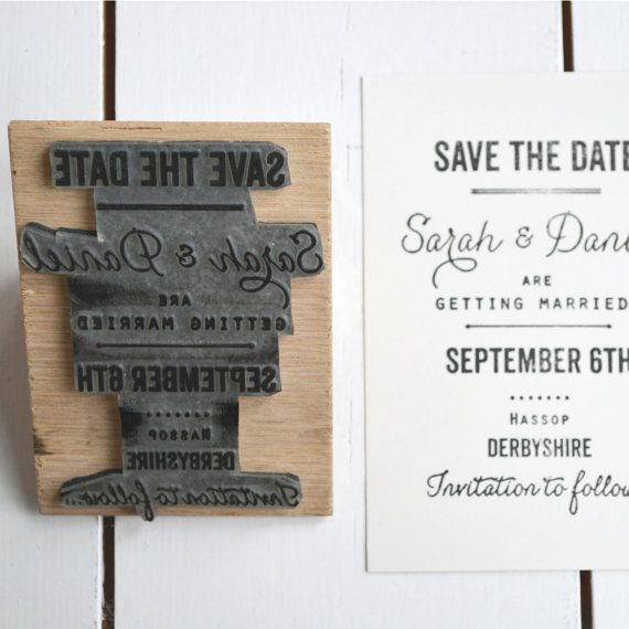 Do Your Own Wedding Invitations: Medium Custom Designed Rubber Stamp. Great By Lucysaysido
