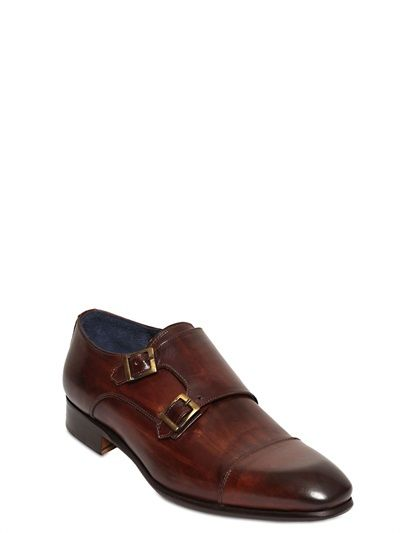 ab8bff74312 GIANNI RUSSO - LEATHER MONK STRAP SHOES - LUISAVIAROMA - LUXURY SHOPPING  WORLDWIDE SHIPPING - FLORENCE