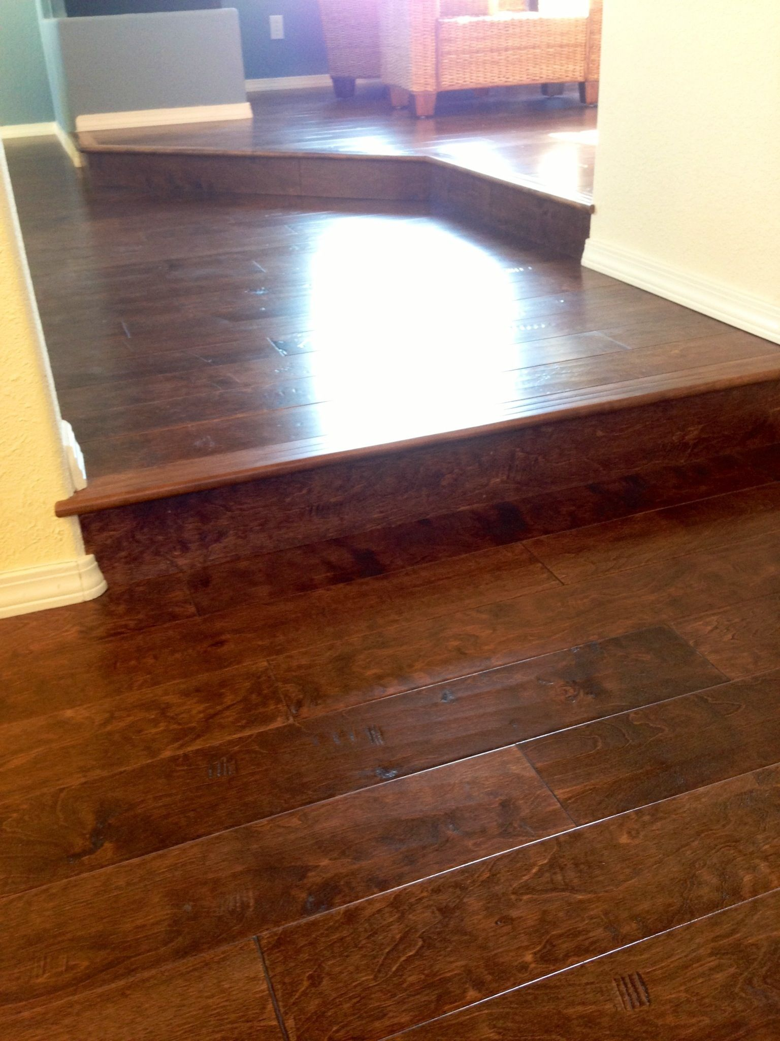Hardwood flooring can take your multi level home from ordinary to
