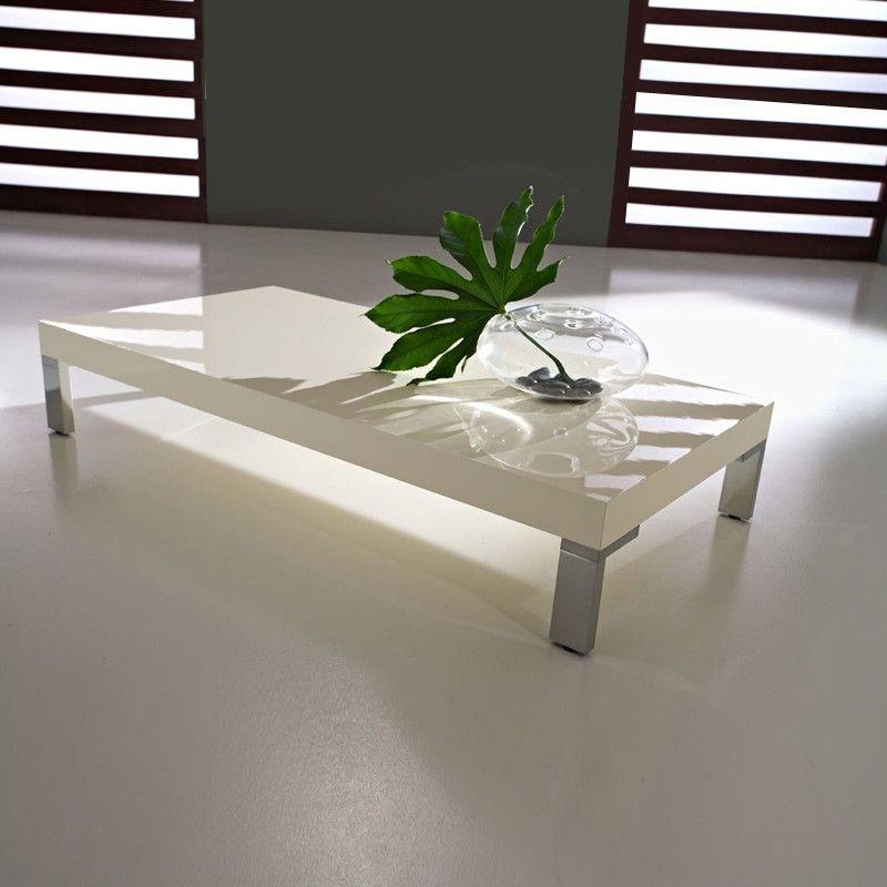 Anna bianco lucid coffee table