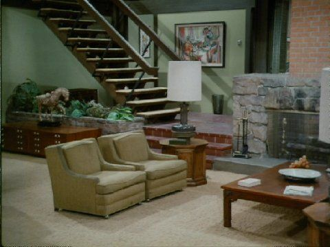 Brady Bunch House Living Room