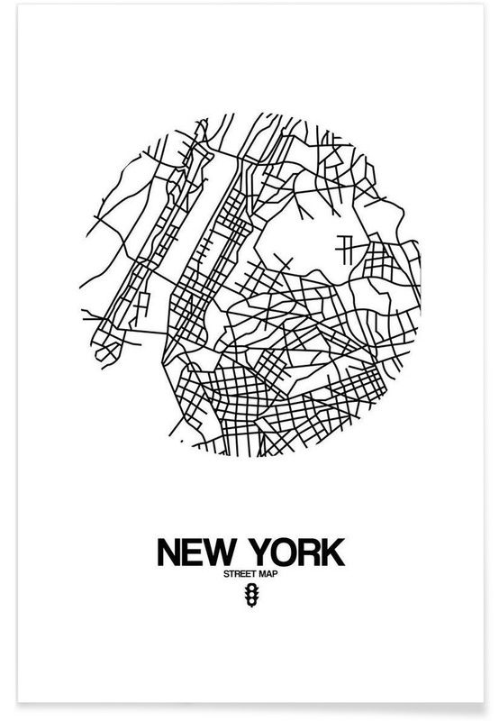 Muurposters New York.New York Als Premium Poster Door Naxart Juniqe Graphic Art